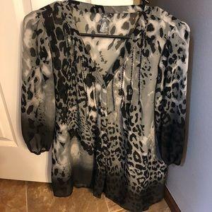 Women's leopard ombré tunic